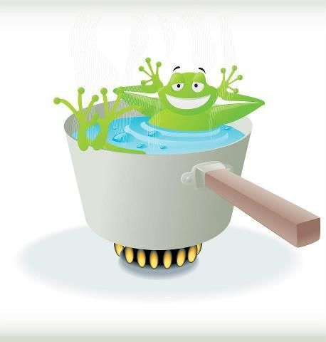 The Boiling Frog Syndrome. Know when it's time to jump out. Inspirational reading.