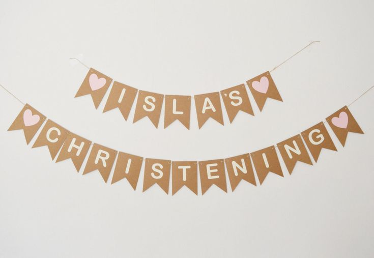 Personalised Christening Decorations, Baptism Banner, Bunting, New Baby, Baby Girl, Baby Boy Custom Decoration by LittleGemGem on Etsy https://www.etsy.com/uk/listing/269207842/personalised-christening-decorations