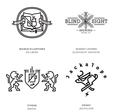 Graphic design trends 2014 according to Logo Lounge: Line Craft Logos.