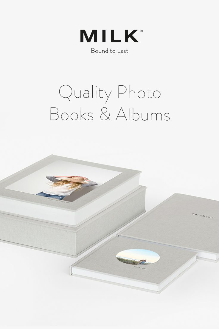 Discover the New MILK Archival Photo Books & Albums range. Classic design, archival-quality materials - the new quality standard.  Made to last longer than a lifetime