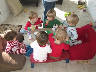 Toddler Pajama's Playdate. Such a cute idea for Christmas time