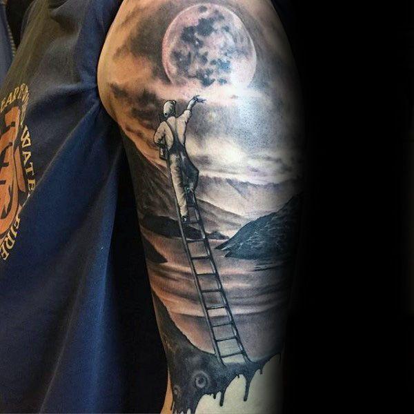 90 Paisaje Tatuajes Para Los Hombres 8211 Ideas De Diseno Escenico Tatuaje De Paisaje Tatuajes Forestales Diseno Escenico