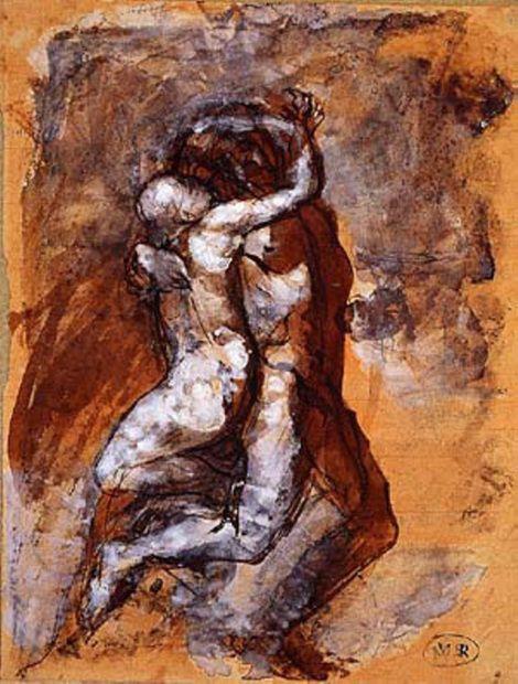 Auguste Rodin, Le Cercle des Amours Vers,1880