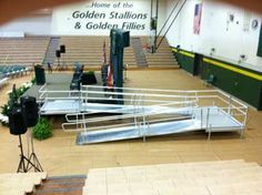 ADA Modular Wheelchair Ramps for Stages and Graduation Ramps