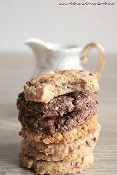 Biscotti Grancereale fatti in casa al cacao, ai cereali croccanti e ai mirtilli rossi