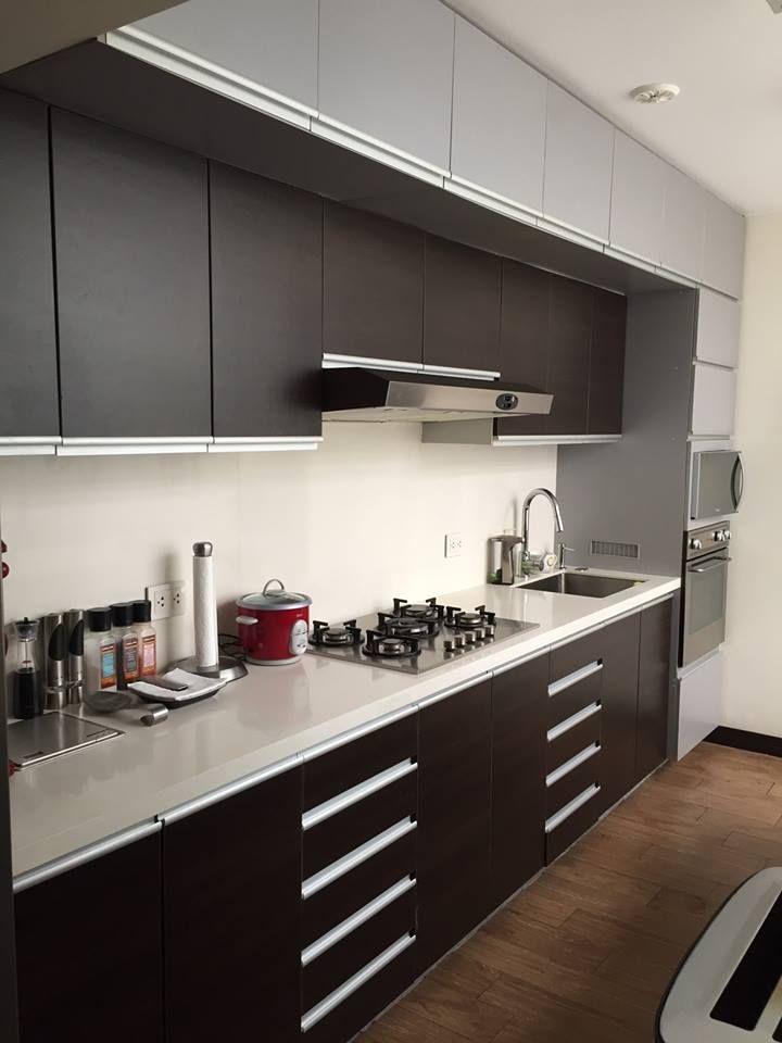 Mobiliario de cocina, melamina wengue Masisa, perfil tirador de ...