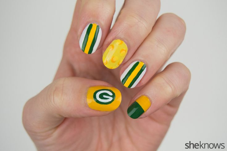 Packers fans nail art