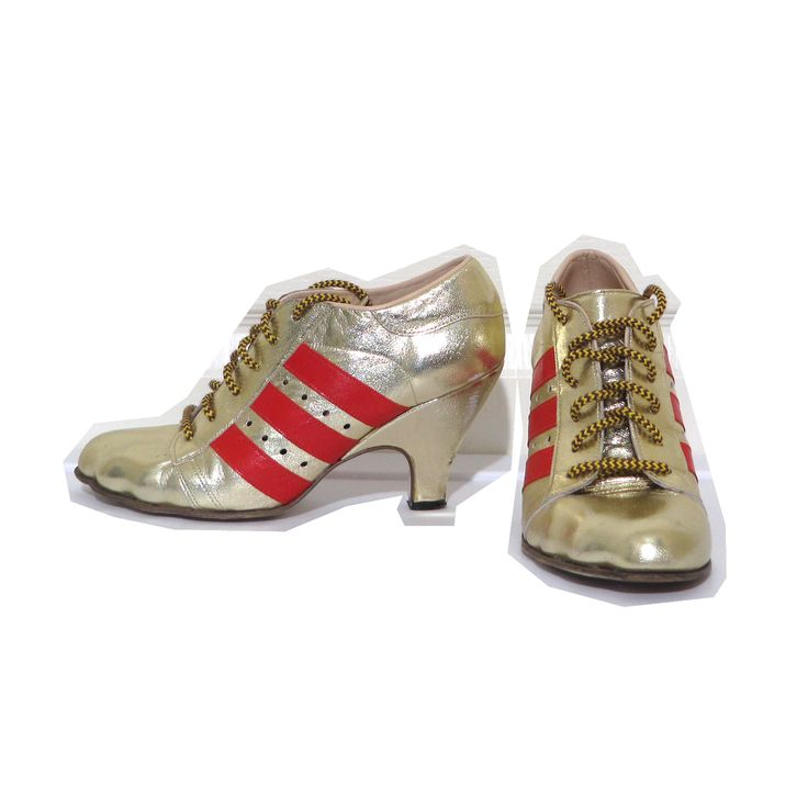Vivienne Westwood Gold Label Tracy Trainers in Gold x Red Leather