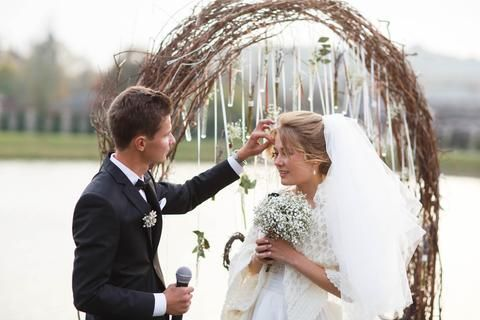 Curly Willow Wedding Arch  includes a Metal Arch