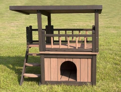 casetas de dos pisos para perro