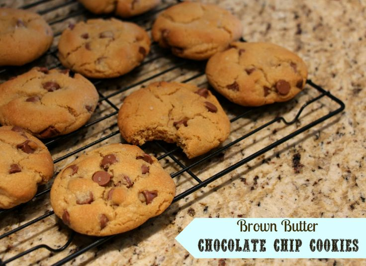 Brown butter chocolate chip cookies | treats | Pinterest