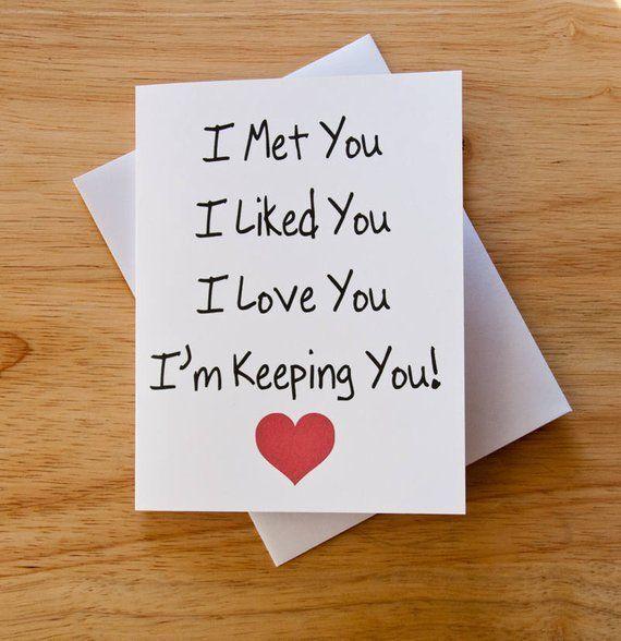 Love Card Boyfriend Gift Card For Him Valentine Card Romantic