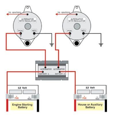 dual alternator battery isolator wiring diagram Toyota Tundra Circuit Diagram Motors Hacks