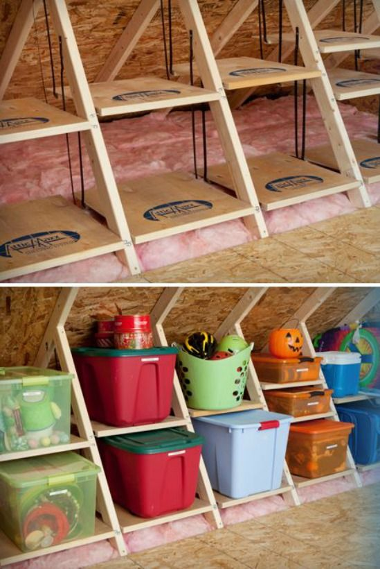 ATTIC MAXX SHELVING. I need this!