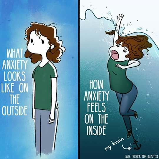 No one understands this. Saying calm down or asking what's causing anxiety doesn't help. If I knew what caused it, believe me, I would stop it.