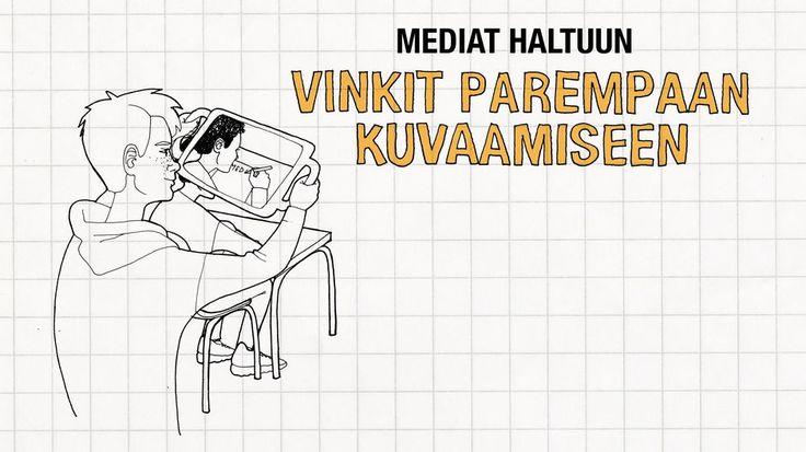Video: Piirretyssä kuvassa ihminen kuvaa tabletilla videota.
