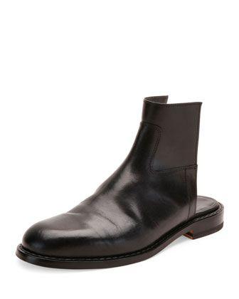 Leather+Cutout+Boot+Sandal,+Black+by+Maison+Margiela+at+Neiman+Marcus.