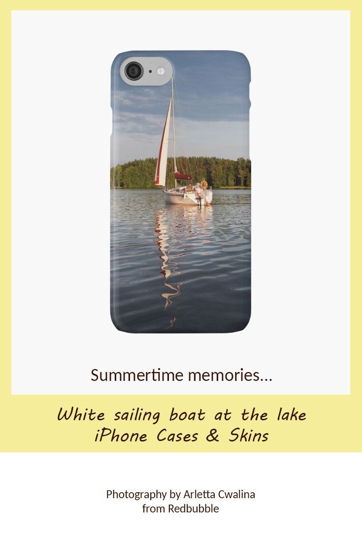 iPhone skin with the summertime memories. Photo taken by the Masuria Lakes District, Poland. Photography by Arletta Cwalina/ @redbubble. See more clothes and home decor ideas and if you love it, feel free to share, maybe your friends would like to have it too :) #homedecor #phoneskin #phone  #sailing #boat #iphone