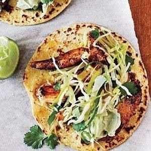 chicken tacos w/ cilantro slaw & avocado cream | Yum! | Pinterest ...