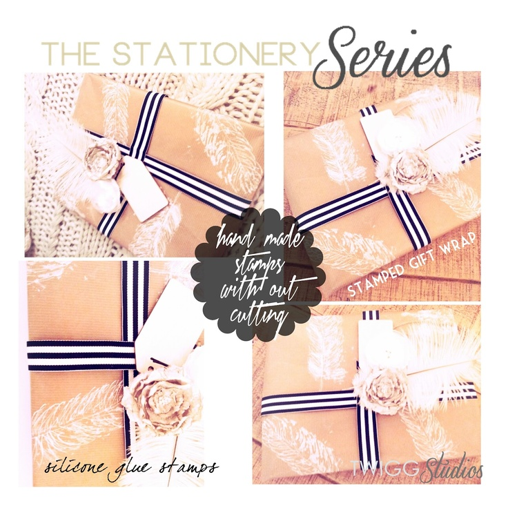 ..Twigg studios: the stationery series part 6 silicone glue stamps diy  great idea!