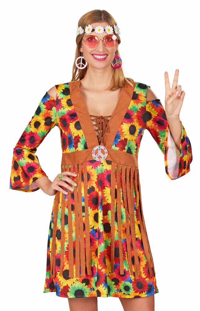 60er 70er Jahre Outfit Damen Hippie Kostüm Damen Schlagermove Hippiekostüm Anzug