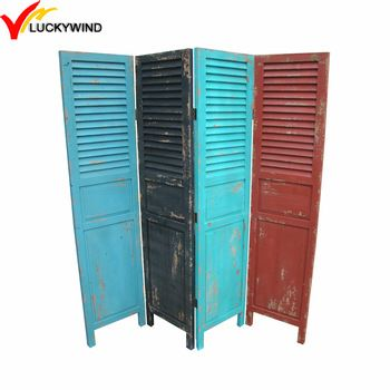 shabby chic colors matching shutter living room decorative wood partition screen