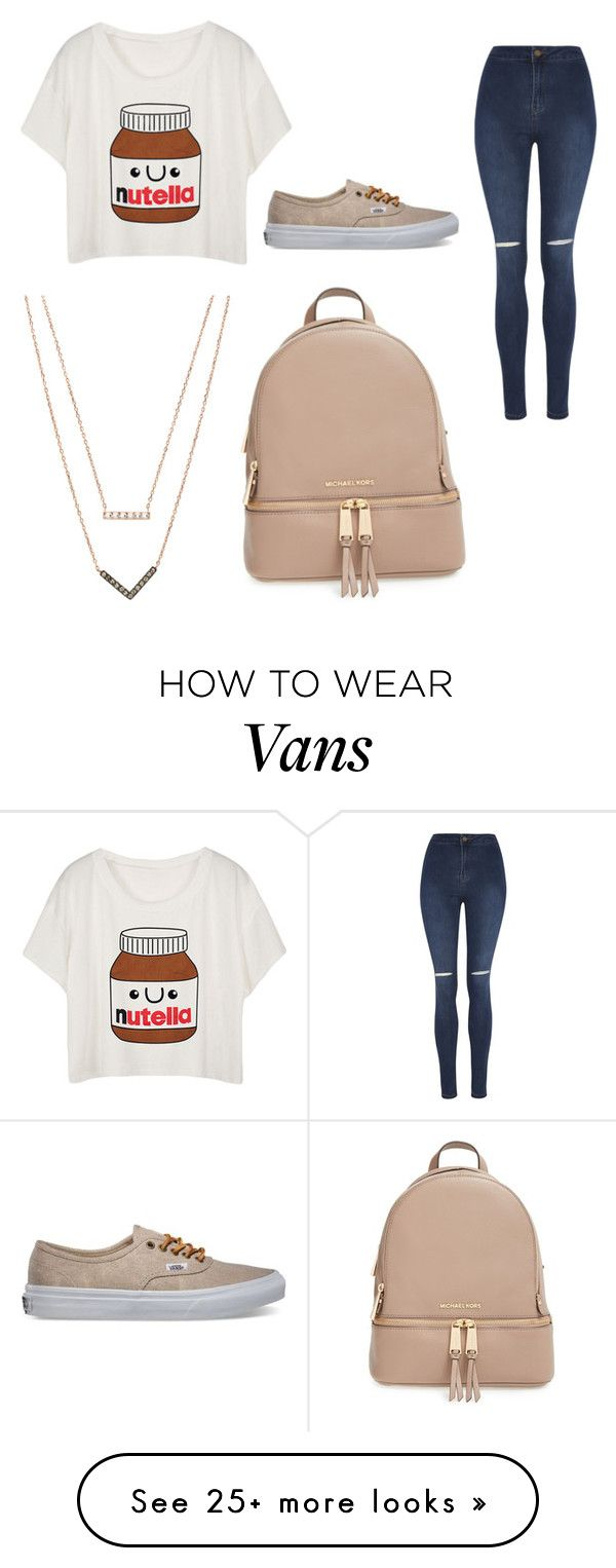 """""""nutella"""" by shaffersar on Polyvore featuring George, Vans, MICHAEL Michael Kors and Michael Kors"""