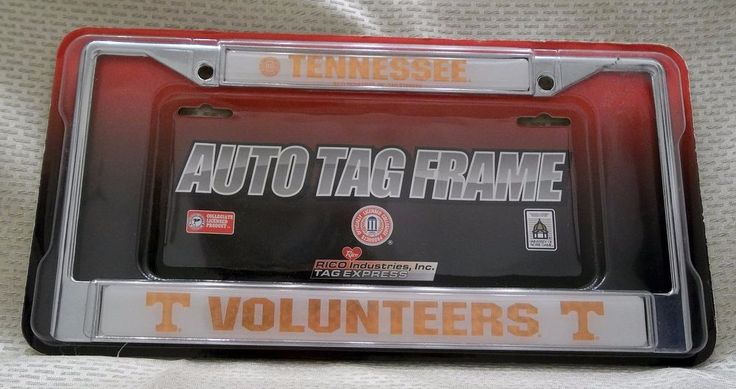 Tennessee Volunteers Auto Tag Frame New In Package NCAA Official Collegiate  #TennesseeVolunteers