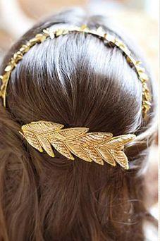 martha stewart gold headband