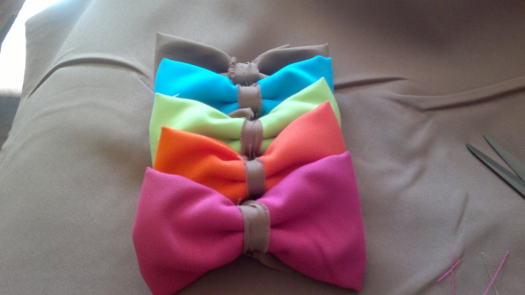 made my own bowties! no glue or stitching involved at all!