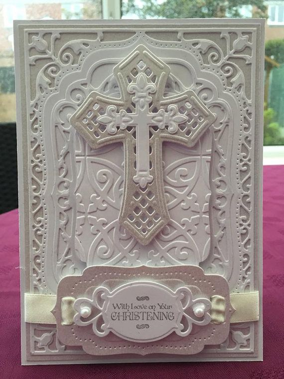 A tweak to an existing design for this religious ceremony card which is shown in a two-tone white theme, for a Christening.  The card can also be tailored and personalised for a Baptism, Holy Communion or Confirmation.