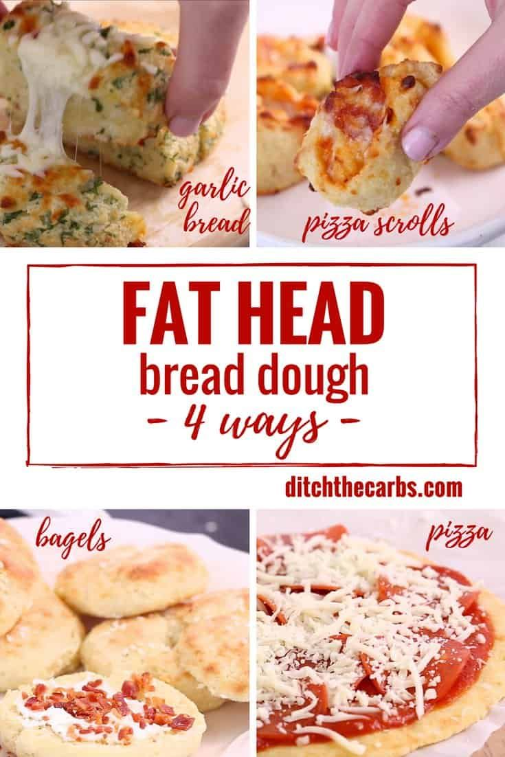 The world's no.1 low-carb mozzarella dough recipe - 4 ways. Watch the quick cooking video.
