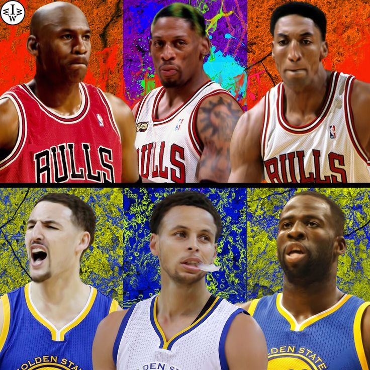 Warriors against Bulls.   The 95/96 Bulls include Michael Jordan, Dennis Rodman, and Scottie Pippen VS the 15/16 Warriors, which include Klay Thompson, Stephen Curry, and Draymond Green.  Who Would Win It?