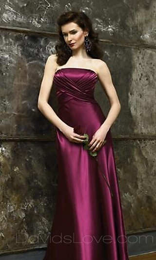 A-Line Tube Floor Taffeta Prom Dress