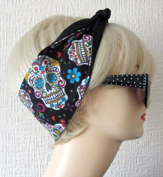 Um YES!!!! Day of The Dead Sugar Skull Flowers in Black  by DollyCool on Etsy, $9.50