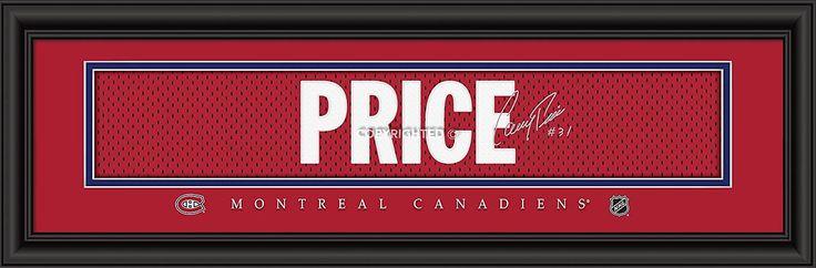 Montreal Canadiens Habs Hockey  Carey Price Sweater Framed Print.