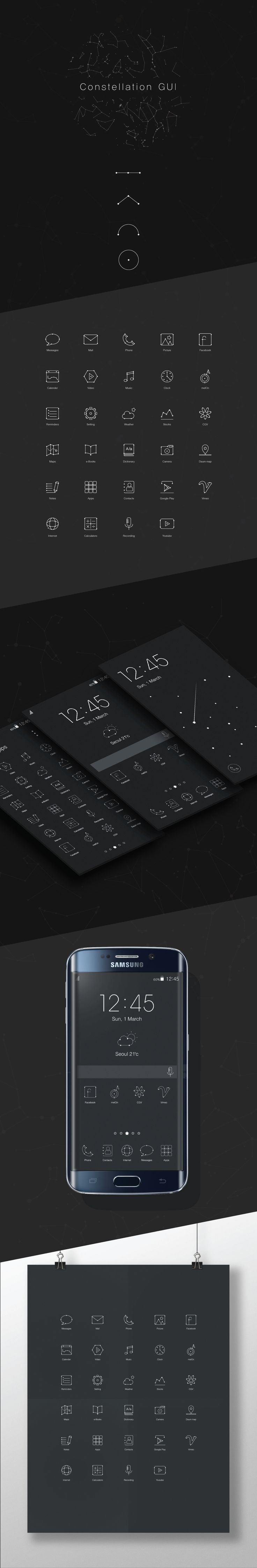 Constellation GUI on Behance
