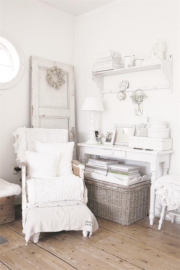 846 best shabby chic white images on pinterest. Black Bedroom Furniture Sets. Home Design Ideas