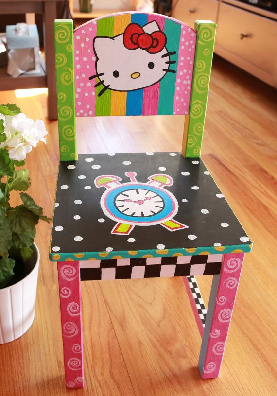 hand painted children time out chairs and custom by casexpression, $95.00