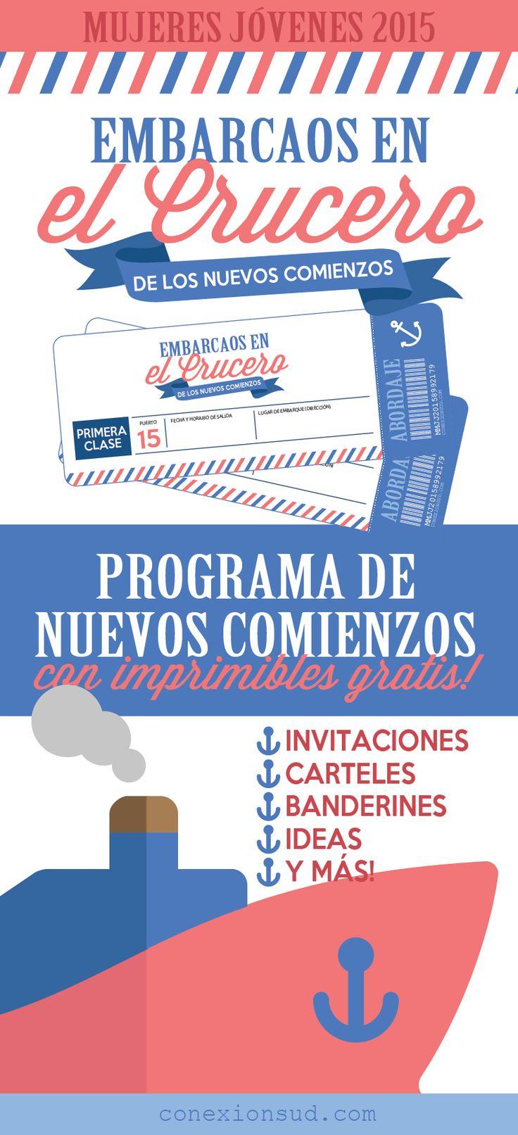 Minuta y muchas ideas para el programa de Nuevos Comienzos Mujeres Jovenes SUD con el lema de la mutual 2015