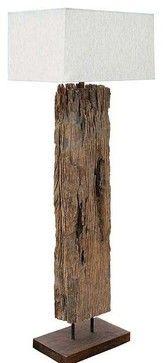 Regina Andrew Reclaimed Driftwood Floor Lamp - traditional - floor lamps - - by Candelabra