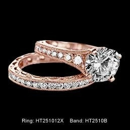 tacori rose gold ring... My DREAM engagement ring. It's not that expensive either. Pink and pretty!!!
