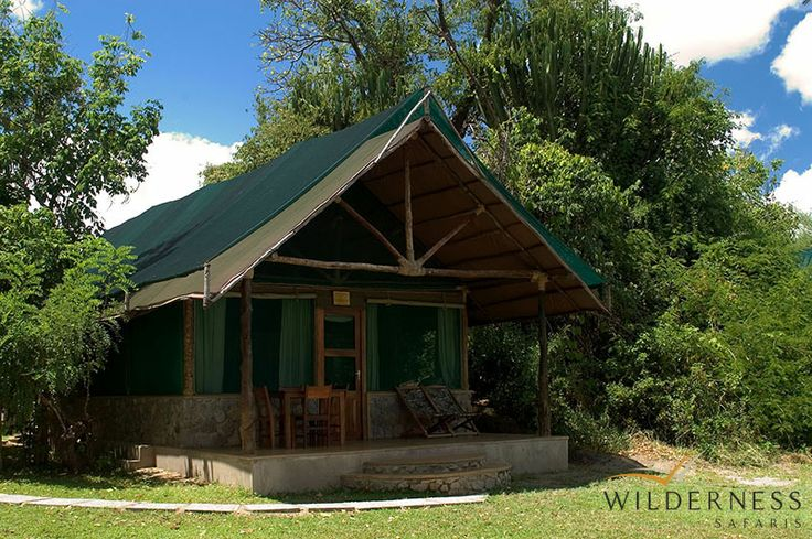 Mvuu Camp is a clever mix of stone and canvas chalets and specially-designed family tents, which total 12 units or 48 beds. #LiwondeNP #Safari #Africa #Malawi