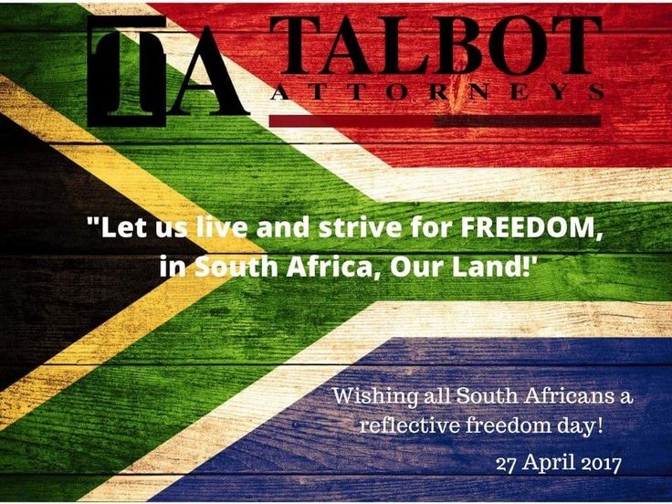Freedom day South Africa.