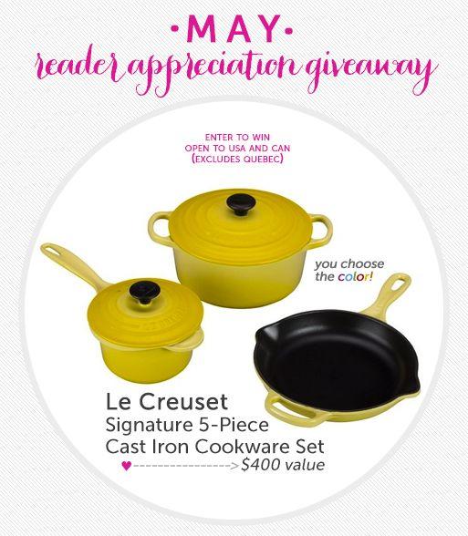 Le Creuset Enameled Cast Iron 5-Piece Cookware Set ($400 Value) ahhh I want a Dutch oven so Bradley!!