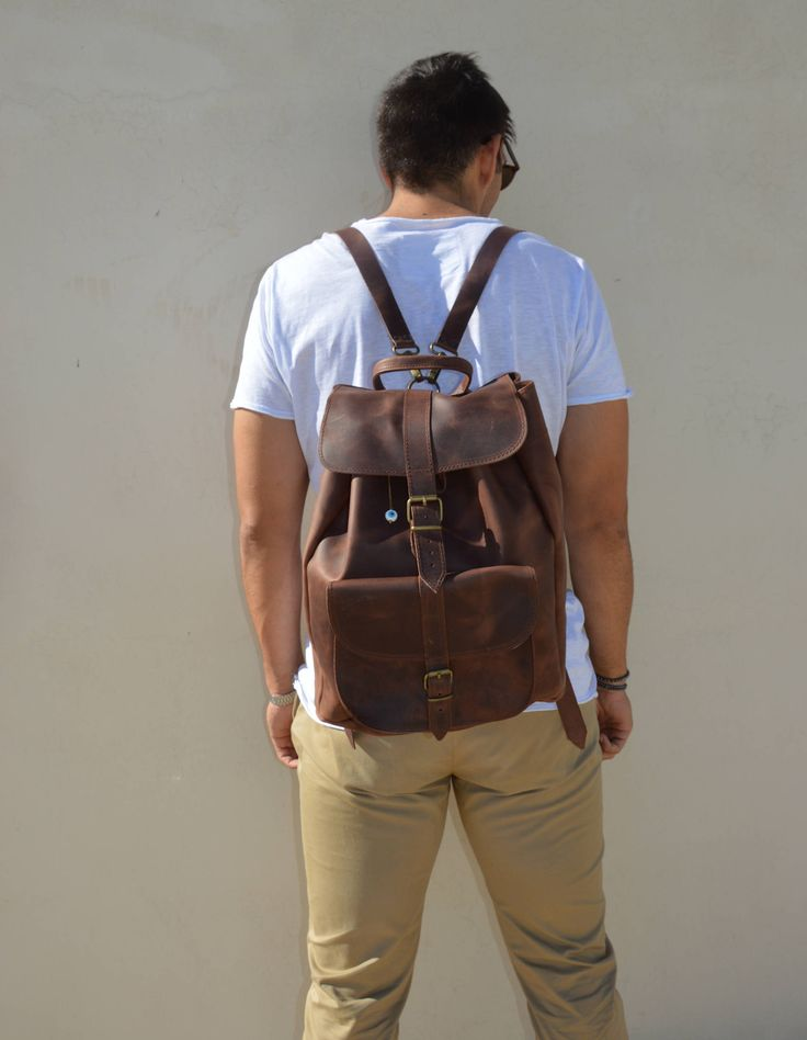 Excited to share the latest addition to my #etsy shop: Professional Backpack, Laptop Backpack, Brown Leather Backpack Men, Made in Greece from Full Grain Leather, EXTRA LARGE. http://etsy.me/2DLkmGT #bagsandpurses #backpack #brown #birthday #christmas #leatherbackpack