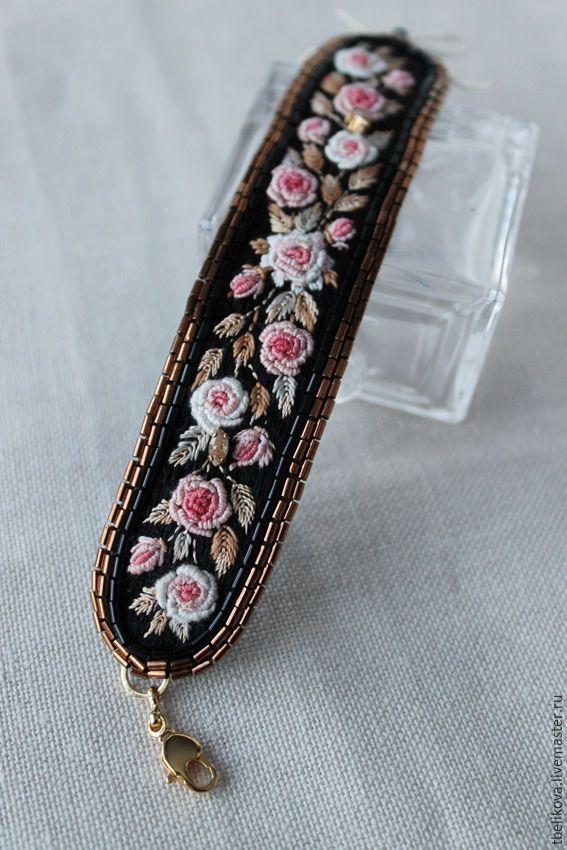 Купить Комплект в розочки RS2017-1. - комбинированный, розы, рококо, вышивка, украшения