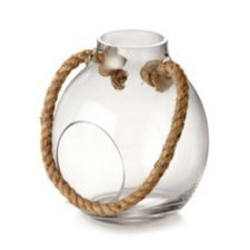 CANVAS Paradise Glass Terrarium features a stylish design and a rustic ropehandle   Canadian Tire