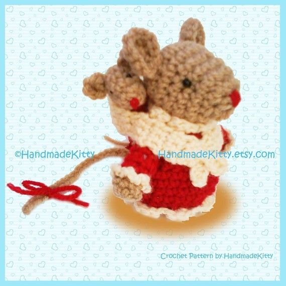 Mommy mouse and Baby mouse Amigurumi PDF Crochet Pattern
