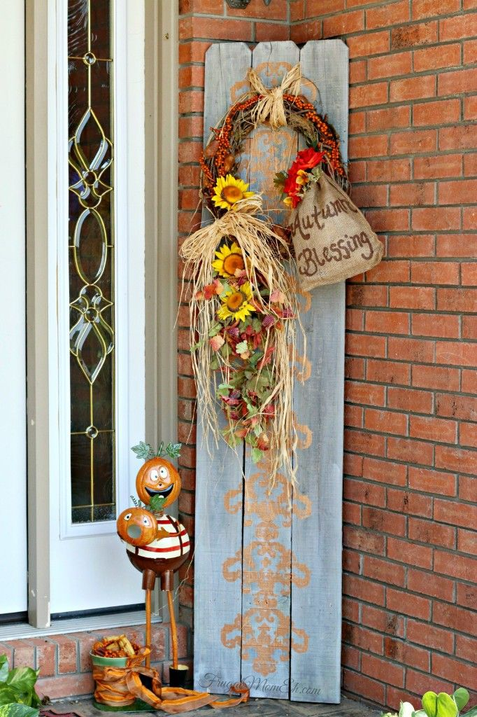 nike posters basketball DIY Autumn Blessing Arrangement  Picket Fence Repurpose